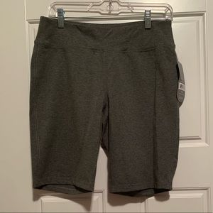 Gray exercise shorts, Brand new. Size M